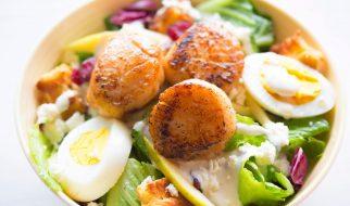 Salade met coquilles