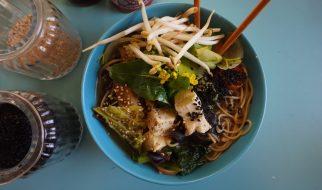 Tofu in saus van zwarte bonen